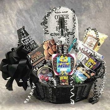 Over the Hill Birthday Basket - FREE SHIPPING - #1 BEST SELLER