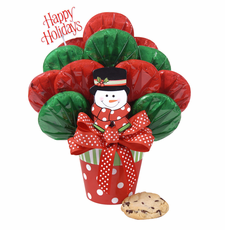 Polka Dot Snowman Bouquet - FREE SHIPPING