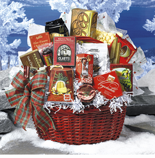Seasons Greetings Gift Basket - FREE SHIPPING