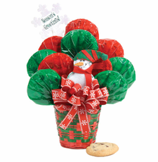 Snowman Basket Bouquet - FREE SHIPPING