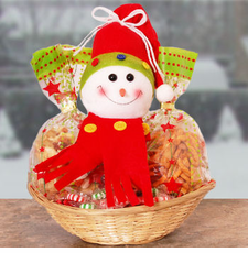Snowman Snacks With Friends Gift Basket
