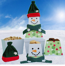 Snowman Tower of Treats - OUT OF STOCK
