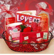 Sweetheart Delights Gift Basket - FREE SHIPPING