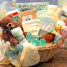Welcome Home Precious Baby Basket - FREE SHIPPING