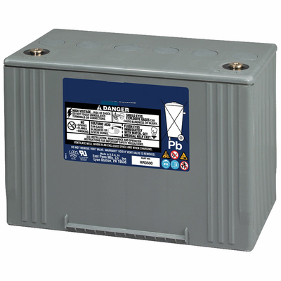 MK 45HR2000 UPS Battery UNIGY HR SERIES FR 12 V 48.8 Amp Hour @ 20 Hour Rate 168 W/Cell 15 Minute Rate 50 Pounds Ship Wht.