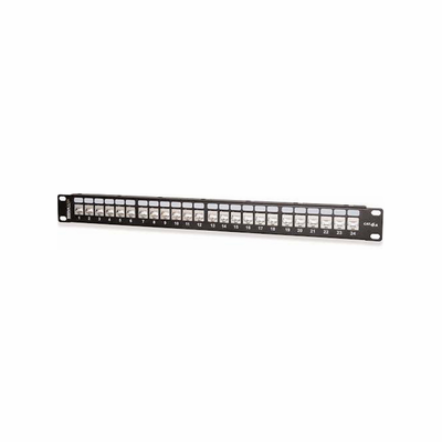 West Penn 48458S-C6A 48-Port Category 6A 10G Screened Patch Panel.