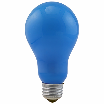 Eiko BCA - Light Bulb, 120V 250W Blue Inside Frosted A-21 E26 Base
