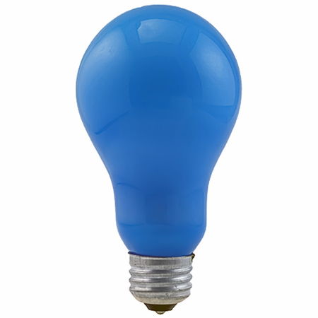 Eiko BCA - Av/Photo Light Bulb, 120V 250W Blue Inside Frosted A-21 E26 Base, 031293000507.