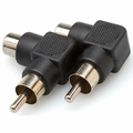 Hosa GRA-259 - Right-angle Adaptors, RCA to RCA, 2 pc
