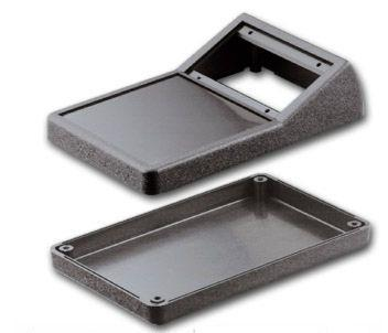 Bud Industries PBS-11327-G - Plastic Boxes-PBS series-Plastibox Style A Textured body with smooth top-L6 X W3 X D2 - Plastibox, Gray 251-I