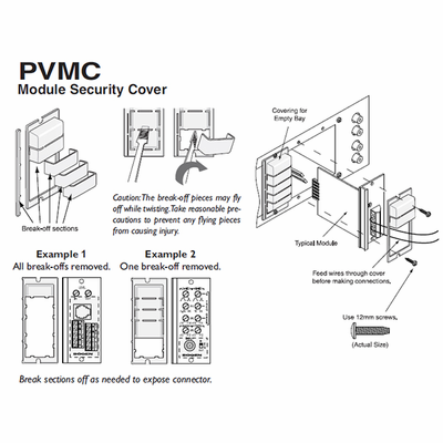 Bogen PVMC - v series module security cover