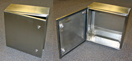 Bud Industries SNB-3735-SS - NEMA Stainless Steel Boxes-L16 X W12 D6