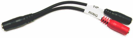 Hosa YMM-379 - Stereo Breakout, 3.5 mm TRSF to Dual 3.5 mm TSF
