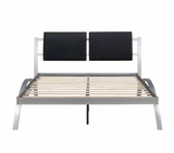 New York Metal Bed With Padded Headboard