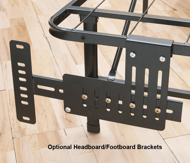 metal bed frame with headboard and footboard brackets 2