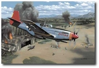 A Perfect Record by Stan Stokes (Tuskegee Airmen - P-51)
