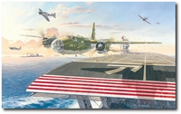 A Shot Across the Bow by Roy Grinnell (B-26 Marauder)