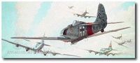 A Test of Courage by Keith Ferris (Fw-190, B-17)