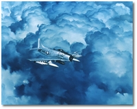 AD Skyraider at Night by R.G. Smith (A-1)