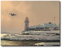 Afternoon Departure at Stoney Point Light by William S. Phillips (Grumman Goose)