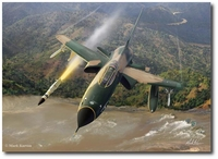 All Out Warrior by Mark Karvon (F-105G Thunderchief - Wild Weasel)
