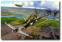 America Strikes Back by Robert Taylor (P-40)