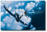 Angels of Okinawa by Stan Stokes (F4U Corsair)