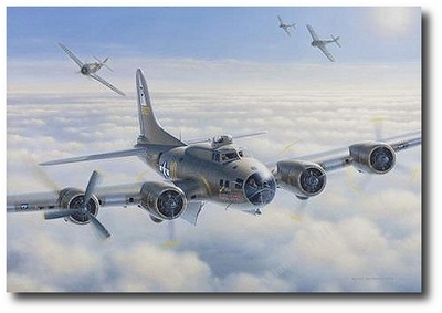 Assault on Damn Yankee by Domenic DeNardo (B-17 Flying Fortress)