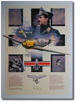 AVIATION ART HANGAR - Adolf Galland by Nicolas Trudgian