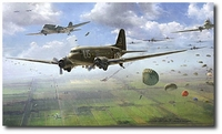 AVIATION ART HANGAR - Angels from Above by Matt Hall (C-47 Dakota)