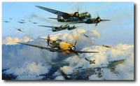 AVIATION ART HANGAR - Assault on the Capital by Robert Taylor (Me109 & Ju88)