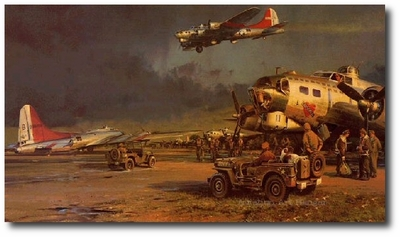 AVIATION ART HANGAR - Company of Heroes by Robert Taylor (B-17)