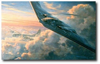 AVIATION ART HANGAR - Legacy by Ronald Wong (B-2 and B-29)