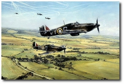 AVIATION ART HANGAR - Moral Support by Robert Taylor (Hawker Hurricane)