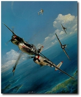 AVIATION ART HANGAR - Pacific Summer by John Shaw (P-38 Lightning - secondary)