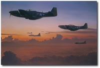 AVIATION ART HANGAR - The Long Ride Home by William S. Phillips (P-51 Mustang)