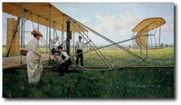 AVIATION ART HANGAR - The Wrights at Huffman Prairie by Gil Cohen (Wright Flyer)