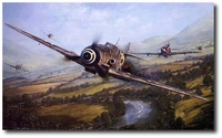 AVIATION ART HANGAR - Warrior and the Wolfpack by John Shaw (Secondary)