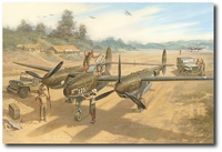 Barbara Ann's Busy Day by Roy Grinnell (P-38 Lightning)