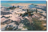 Battle of the Brenner by Anthony Saunders (B-25 Mitchell)