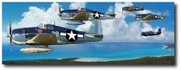 Big Blue Blanket by Thierry Thompson (F6F Hellcat)