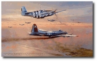 Bringing the Peacemaker Home by Robert Taylor (B-17 & P-51)