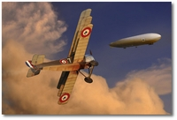 Channel Intercept by Ron Cole (Sopwith Triplane)