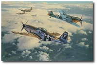 Clash of Eagles by Anthony Saunders (P-51 Mustang)