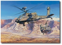 Clearing the Path by Rick Herter (AH-64 Apache and CH-47 Chinook)
