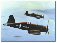 Close Air Support by Robert D. Fiacco (F4U Corsair)