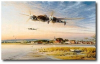 Coming In Over the Estuary by Robert Taylor (P-38 Lightning)