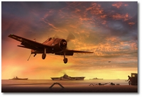 David McCampbell Hellcat (Dusk) by Ron Cole (F6F)