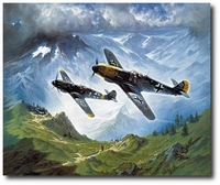 Diamonds in the Sky by Heinz Krebs (Me109)