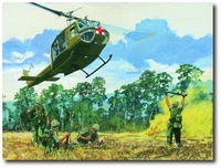Dust Off by K. Price Randel (UH-1 Huey)
